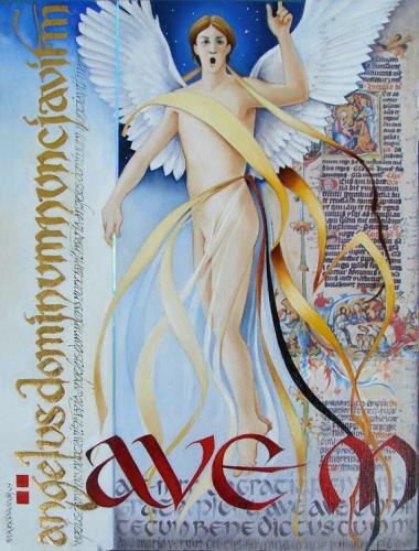 Angel of the Annunciation (oil)